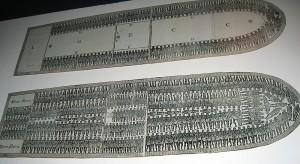 Detail, slave ship, Museu Afro Brasil.